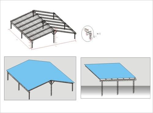 户外铝合金桁架搭建帐篷效果图,铝合金桁架帐篷搭建效果图-铝合金
